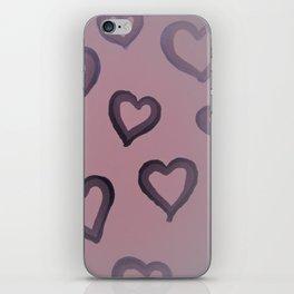 Heart Glow in Rose iPhone Skin