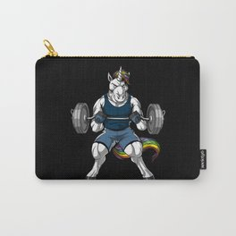 Fitness Unicorn Workout Magical Gym Bodybuilder Carry-All Pouch