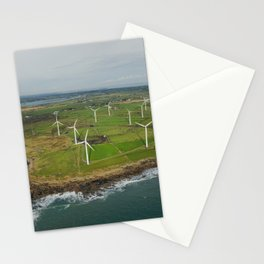 Aerial view of Carnsore Wind Farm Stationery Cards