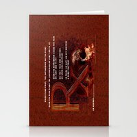 depression Stationery Cards featuring Depression or the Pain - 111 by Lazy Bones Studios