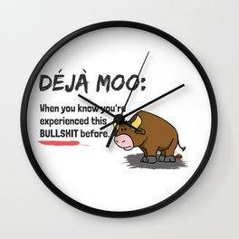 Deja Moo Dark Wall Clock