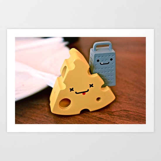 cheese and friends Art Print