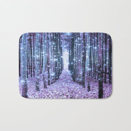 Magical Forest Lavender Ice Blue Periwinkle Bath Mat
