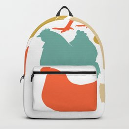 Vintage Chickens Love product Funny gift for chicken Owner Backpack