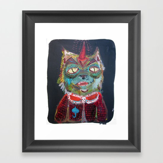 HOLLA ME LLAMO TENOTCH Framed Art Print