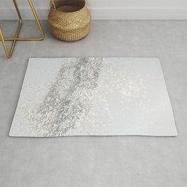Silver Gray Glitter #3 #shiny #decor #art #society6 Rug