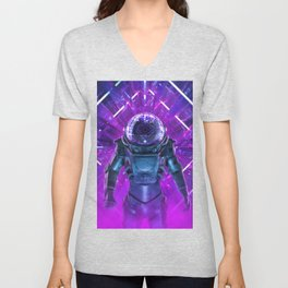 Entering The Unknown Unisex V-Neck