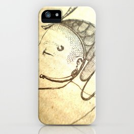 Zen photo - buddha-like figure in contemplation, beautiful photography, graphic lines iPhone Case
