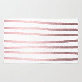 Simply Drawn Stripes Rose Quartz Elegance Rug