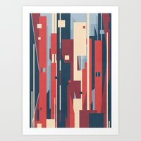 metropolis Art Prints featuring Metropolis by Tracie Andrews