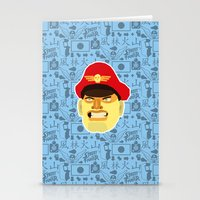 street fighter Stationery Cards featuring Bison - Street Fighter by Kuki