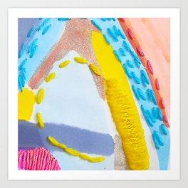 Stitched Art Print