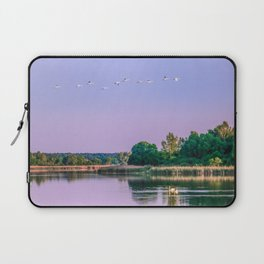 Swans are flying Laptop Sleeve