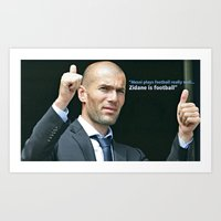 zidane Art Prints featuring Zidane is Football by M Robim