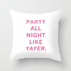 like yayer Throw Pillow