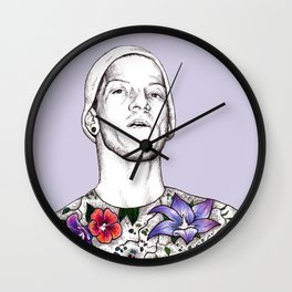 Joshua Dun in flowers Wall Clock