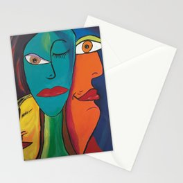 Picasso Inspired Abstract Faces Stationery Cards