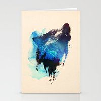 alone Stationery Cards featuring Alone as a wolf by Robert Farkas
