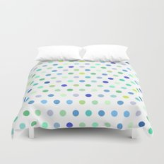 Polka Dots - Blue & Green Duvet Cover