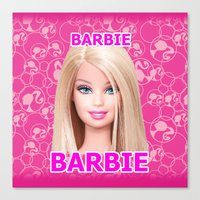 barbie Canvas Prints featuring Barbie by Maxvision