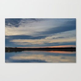 Sunset at Renforth Wharf Canvas Print