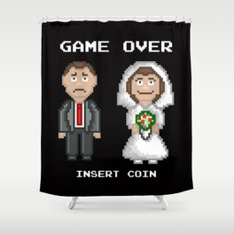 Marriage - Game Over Shower Curtain