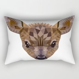 Baby deer in color blocking Rectangular Pillow