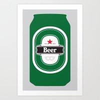 Beer (Hieney) Art Print