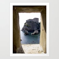 View from the Walls of Dubrovnik Art Print
