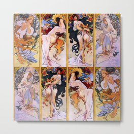 "Alphonse Mucha ""The Seasons (series)"" (1897) Metal Print"