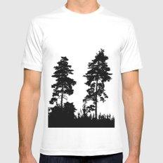 pine trees Mens Fitted Tee MEDIUM White