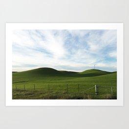 Rolling Green Art Print