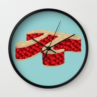 pi Wall Clocks featuring Pi Pie by Rryan