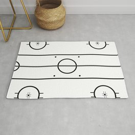 Ice Hockey Rink Rug