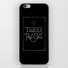 Tabula Rasa (black) iPhone & iPod Skin