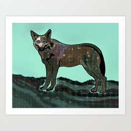 A Wolf's Attentions Art Print