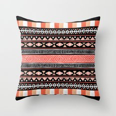 Mojave Black Throw Pillow