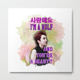 Wolf Xiu Metal Print