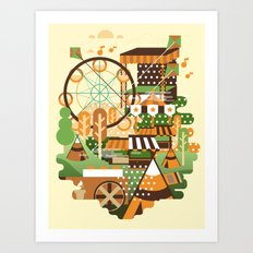 Let's Camp, shall we? Art Print