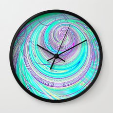 Re-Created  Hurricane 4 by Robert S. Lee Wall Clock
