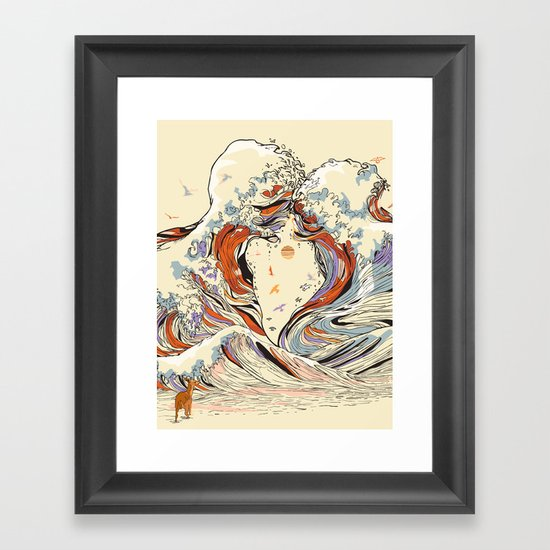 The Wave of Love Framed Art Print