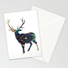 Deer abstract Stationery Cards