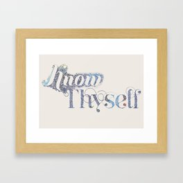 Know Thyself - Linen Edition Framed Art Print