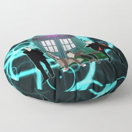 The Doctors And Tardis Floor Pillow