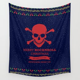 Rock and Roll Christmas Wall Tapestry