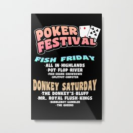 Poker Cards Quotes Metal Print