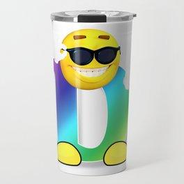 Letter D Alphabet Smiley Monogram Face Emoji Shirt for Men Women Kids Travel Mug