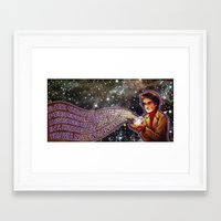 carl sagan Framed Art Prints featuring Carl Sagan Tribute by Catus
