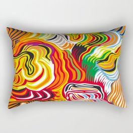 colored flow Rectangular Pillow