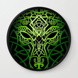 Celtic Wolf Wall Clock